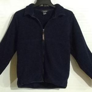 L.L. Bean Fleece Zip Front Sweatshirt Size S